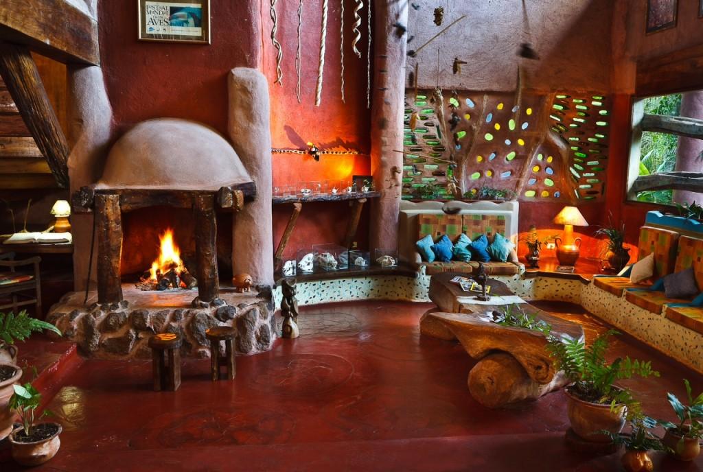La arquitectura orgánica y muy peculiar de Yacutinga Lodge.