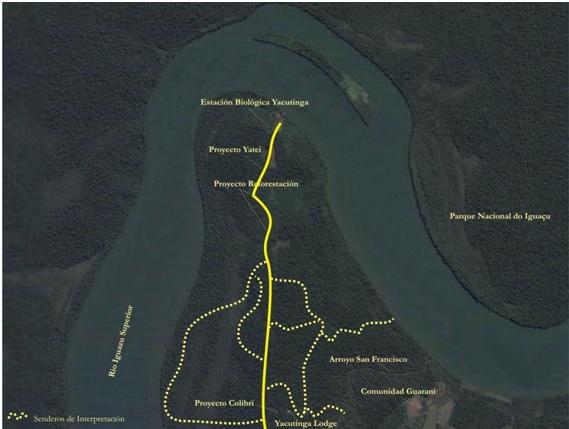 La exclusiva Reserva Yacutinga. Una Península bordeada por el rio Iguazú superior.