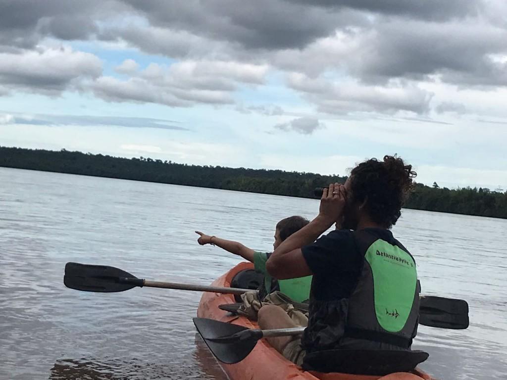 Flotada en Kayaks por el Río Iguazú